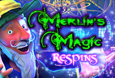 Merlins Magic Respins Slots Online Logo