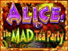 Alice and the Mad Tea Party Slots Online Logo