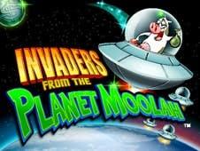 Invaders from Planet Moolah Slots Online Logo