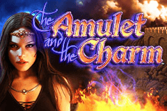 The Amulet and the Charm Slots Online Logo