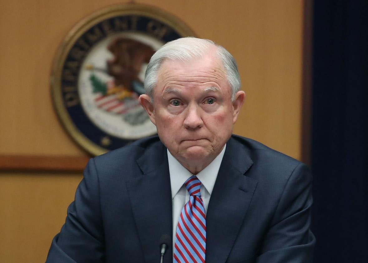 Attorney General Jeff Sessions' reaction to THIS question isn't good news for the online gaming industry