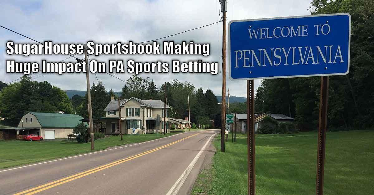 SugarHouse Sportsbook Makes Presence Felt In PA Sports Betting Market Featured Image