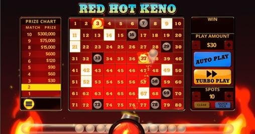 PA iLottery Adds First Keno-Style Game: Red Hot Keno With $300,000 Top Prize