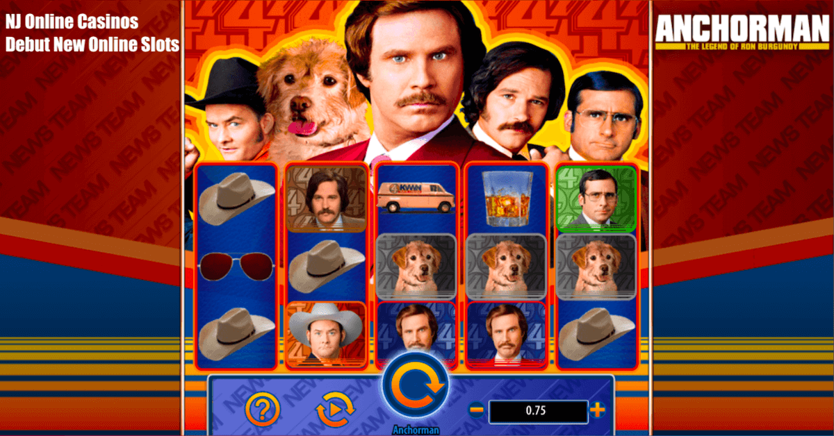 NJ Online Casinos Debut New Online Slots Highlighted By Anchorman Movie Game