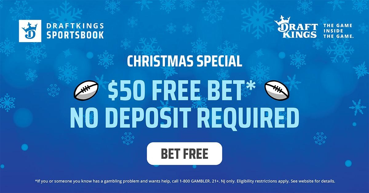 DraftKings Sportsbook Offers $50 Free Bet This Christmas