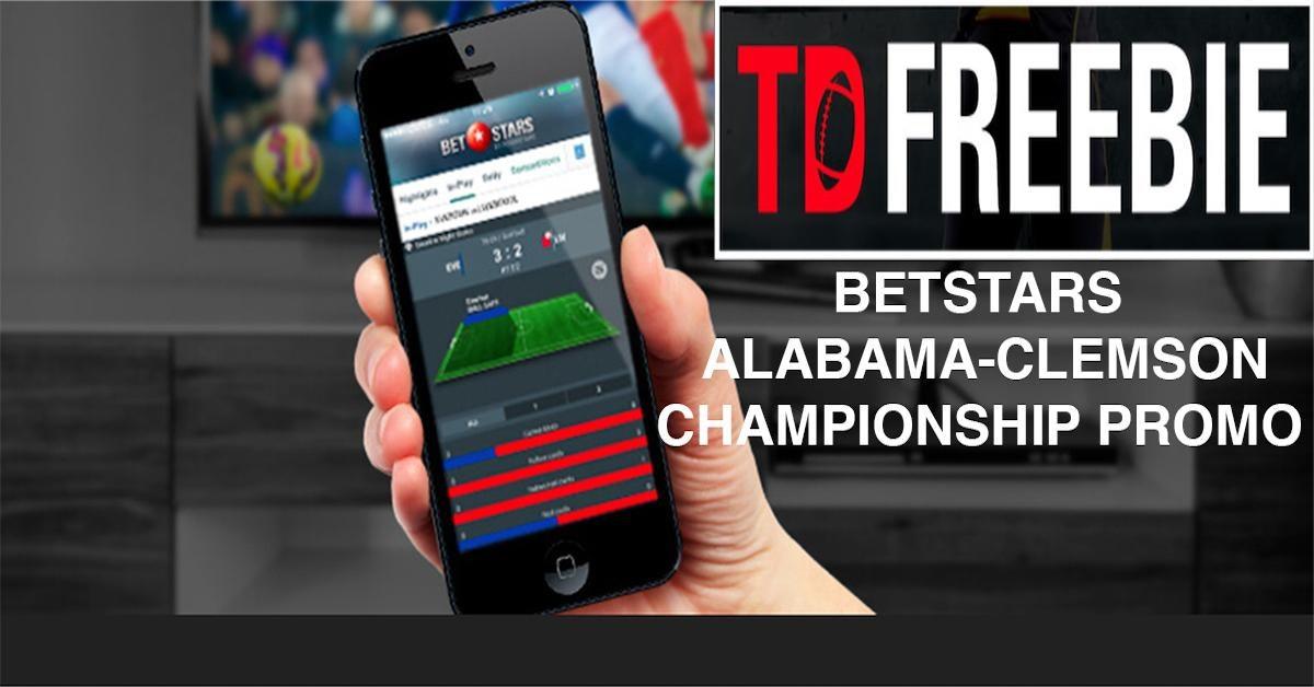 BetStars NJ Offers TD Freebie Promo for Alabama-Clemson Championship Game