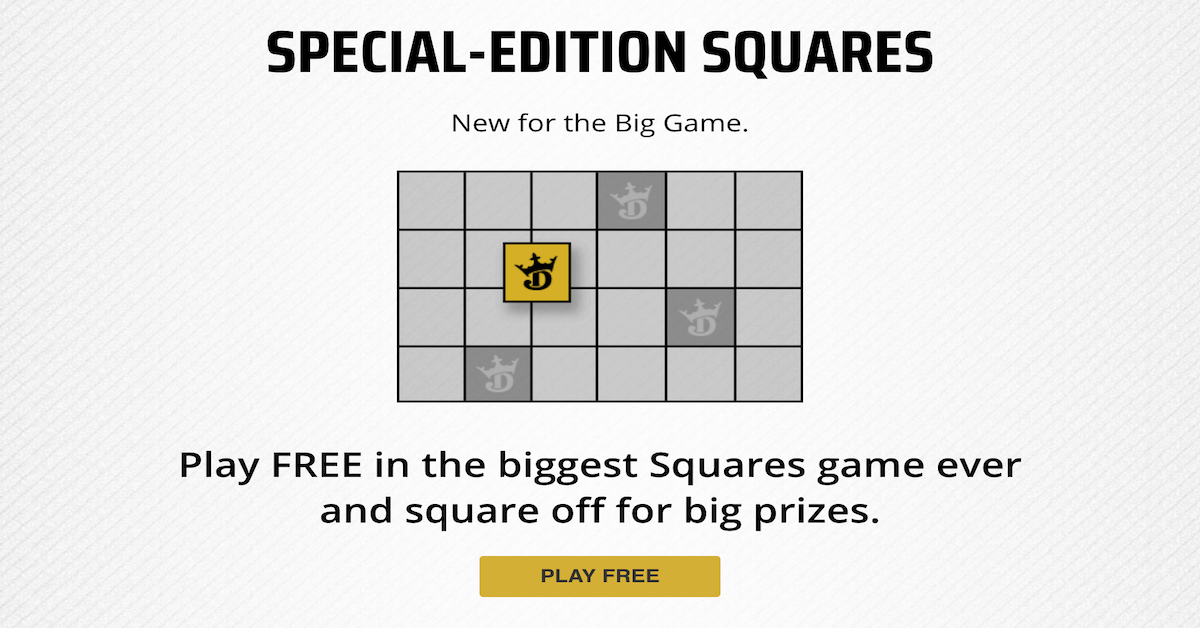 DraftKings Big Game Squares - Free Entry Contest To Award Over $50K