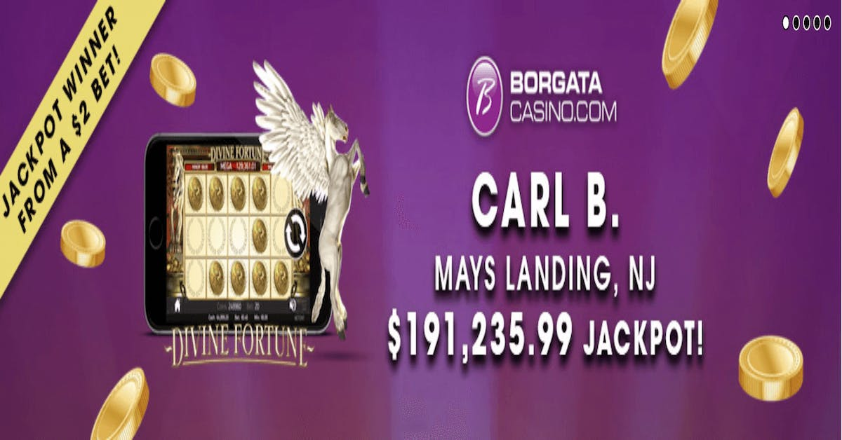 NJ Online Casino Borgata Player Hits $191,235.99 Divine Fortune Jackpot