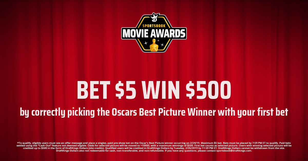 DraftKings Sportsbook Offers 100-to-1 Best Picture Odds & $20 Oscars Free Bet