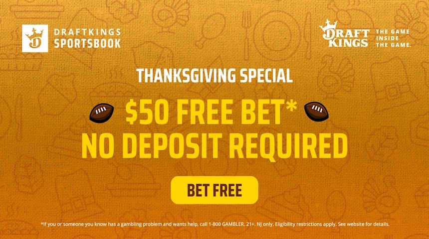 DraftKings Sportsbook NJ Is Giving Players A $50 Free Bet This Thanksgiving Week