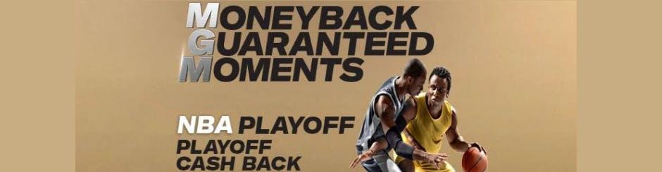 playMGM Online Casino Promo - NBA Playoff - 10% Cashback All Playoffs Long